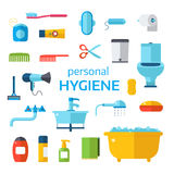 Hygiene icons vector set isolated on white background Royalty Free Stock Photo