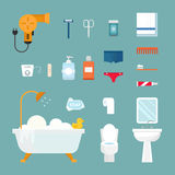 Hygiene icons vector set isolated on white background Royalty Free Stock Photos