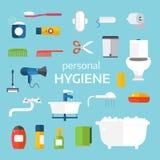Hygiene icons vector set isolated on white background Royalty Free Stock Photo