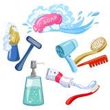 Hygiene, Körperpflege, Einzelteile lizenzfreie abbildung