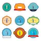 Hygiene label set Royalty Free Stock Photo