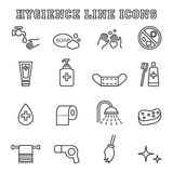 Hygiene line icons Stock Image