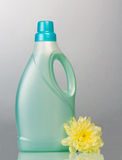 Hygiene liquid cleanser. In bottle with flower Royalty Free Stock Images