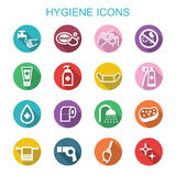 Hygiene long shadow icons Royalty Free Stock Photo