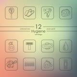 Set of hygiene icons Stock Photo