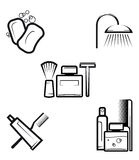 Hygiene objects Stock Image
