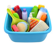 Hygiene products and basin Royalty Free Stock Images
