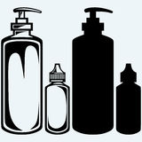 Hygiene products in plastic bottles Royalty Free Stock Image