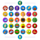 Hygiene, sanitary ware, music and other web icon in flat style. vegetables, nature, recreation, icons in set collection. Royalty Free Stock Photos