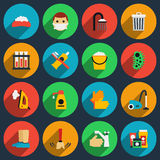 Hygiene and sanitation vector flat icons set Royalty Free Stock Photography
