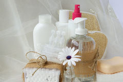 Hygiene set for an adult Stock Images