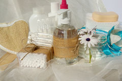 Hygiene set for a baby Stock Images