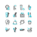 Hygiene. Set of icons - beauty, personal hygiene. A vector vector illustration