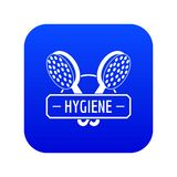 Hygiene shower icon blue vector. Isolated on white background vector illustration