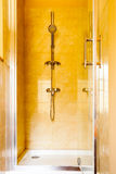 Hygiene. Shower stall unit. Interior of bathroom. Royalty Free Stock Images