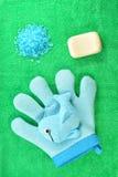 Hygiene SOAP sponge sea salt Stock Images