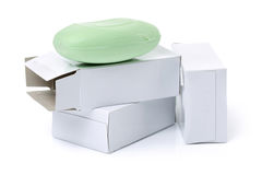 Hygiene soap. On white background Stock Images