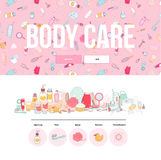 Hygiene web template Royalty Free Stock Images