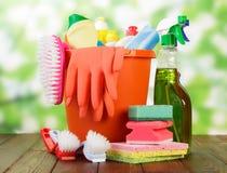 Hygienereiniger in den Flaschen lizenzfreies stockfoto