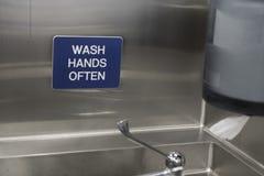 Hygienezeichen stockbild