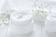 Hygienic cream skincare product wellness and relaxation makeup mask Royalty Free Stock Images