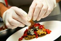 Hygienic Food Preparation Royalty Free Stock Photos