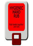 Hygienic hand rub dispenser Stock Photos