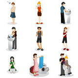 Hygienic people Royalty Free Stock Images