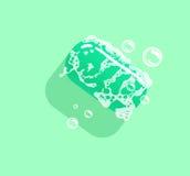 Hygienic soap, eps 10. Vector illustration. Green color. Stock Photo