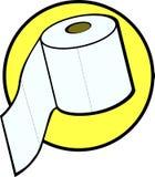 hygienisk paper rullvektor för badrum Royaltyfri Foto