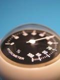 hygromètre bleu Photographie stock libre de droits