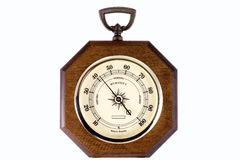 Hygrometer. A hygrometer instrument showing the relative humidity in percents stock photo