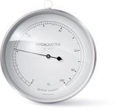 hygrometer. Illustration of a metal framed hygrometer, eps 10 Royalty Free Stock Photo