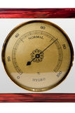 Hygrometer, isolated royalty free stock photography