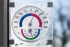 Hygrometer, thermometer all in one Stock Photography