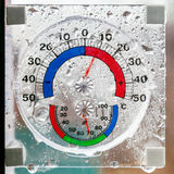 Hygrometer, thermometer all in one Stock Image