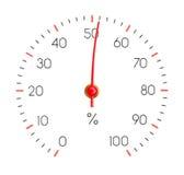 Hygrometer zeigt Feuchtigkeit 51% stockfotos