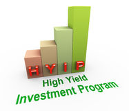 Hyip high yield investment program Stock Photography