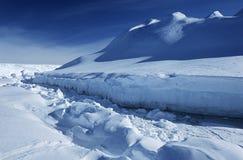 Hylla för Antarktis Weddell havsRiiser Larsen is royaltyfri fotografi