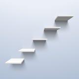 Hyllor i formen av trappa Arkivbild