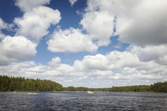 Hyllsjon lake landscape Royalty Free Stock Images