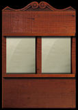 Hymn board. Illustration of hymn board with two blank number cards Stock Photography