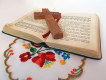 Old hymn - book of grandmother stock image