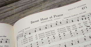 Hymnal hymn Christian prayer pray Christianity Stock Photos