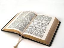 hymnbook открытый Стоковые Фотографии RF