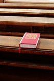 Hymnbook religion scene Stock Images