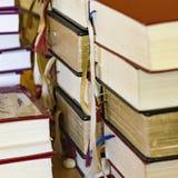 Hymnbooks w kościół Fotografia Royalty Free