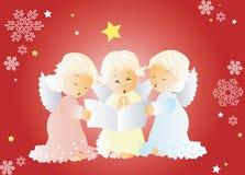 Hymnes de louange de Noël de chant Image libre de droits