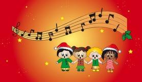 Hymnes de louange de Noël Image libre de droits