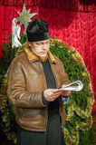 Hymnes de louange pour Noël le 8 janvier 2016 dans la région de Kaluga (Russie centrale) photo stock